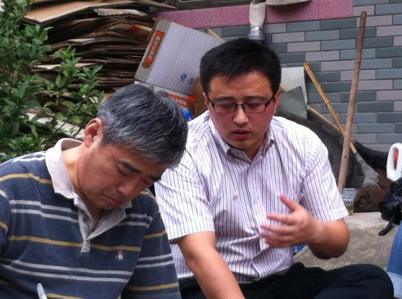 On the left is Liu Wei, my field advisor, and Mr. Yu, the vice-mayor of a neighboring township.