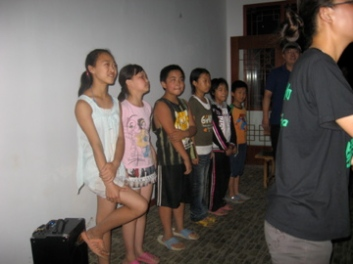 Here's the kids performing their song during one of the community's presentations for a tour that had come to learn about GVB's work.