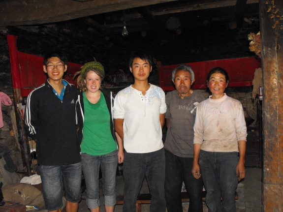 From left to right: Cheng, me, Peng, Peng's father and mother