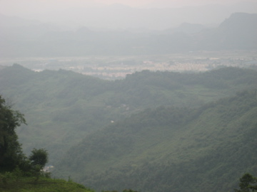 Here's a view looking out from where the NGO was positioned on the mountain.